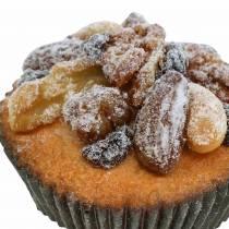 Muffin con noci artificiali 7cm 3 pezzi