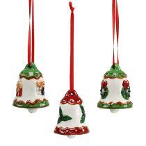 Campana in ceramica da sospendere 5cm multicolore 3 pezzi