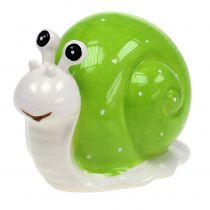Lumaca in ceramica 12 cm verde 4 pezzi