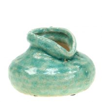 Vaso in ceramica blu antico H9cm