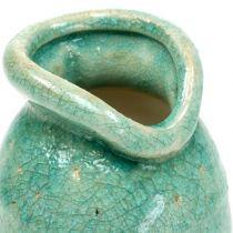 Vaso in ceramica blu antico H21cm
