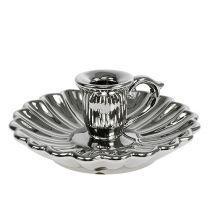 Candeliere in ceramica argento Ø16cm