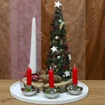 Candeliere per candela a punta argento Ø8cm H5cm