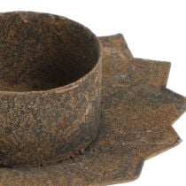 Candeliere per inserimento Ø9cm L8,5cm Marrone