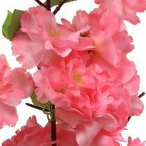 Ramo di fiori di ciliegio rosa artificiale 103 cm