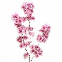 Ramo di fiori di ciliegio rosa artificiale 104 cm