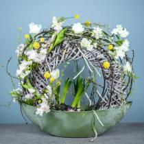 Ramo di fiori di ciliegio bianco artificiale 103 cm