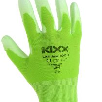 Kixx guanti da giardinaggio taglia 7 verde chiaro, lime