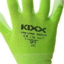 Guanti da giardinaggio Kixx in nylon taglia 8 verde chiaro, lime