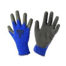 Guanti da giardinaggio Kixx in nylon taglia 8 blu, neri