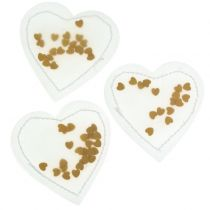 Confetti Cuore Oro 5cm 24 pezzi