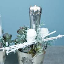 Rose stabilizzate medie Ø4-4,5cm bianche 8 pezzi