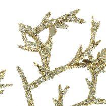 Ramo di corallo con mica oro chiaro 3 pezzi