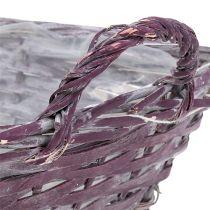 Cestino angolare 29 cm x 23 cm H10 cm viola scuro