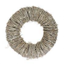 Corona di clematidi lavato bianco Ø30cm