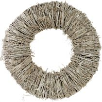 Corona di clematidi lavato bianco Ø40cm