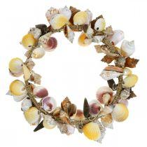 Ghirlanda decorativa conchiglie e lumache natura Decorazione marittima Ø30cm