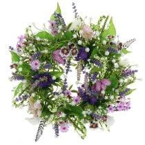 Ghirlanda scacchiera fiore / lavanda / lilla Ø28cm