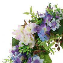 Ghirlanda Ortensia / Frutti Di Bosco Viola Ø30cm