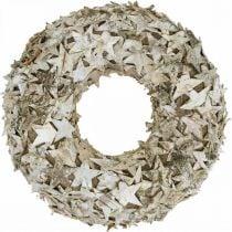 Ghirlanda decorativa stelle corteccia di betulla Ghirlanda natalizia betulla Ø30cm
