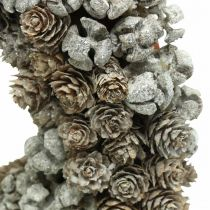 Ghirlanda decorativa coni larice cipresso ghirlanda da tavola Natale Ø30cm