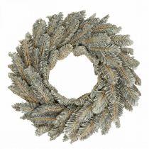 Ghirlanda decorativa coni Ghirlanda dell'Avvento porta corona bianca, glitter Ø35cm