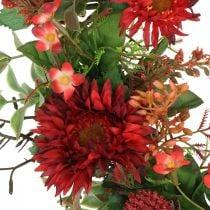 Ghirlanda autunnale fiori di seta gerbera rossa ghirlanda porta cardo Ø42cm