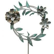 Spilla da giardino ghirlanda di fiori in metallo H63cm