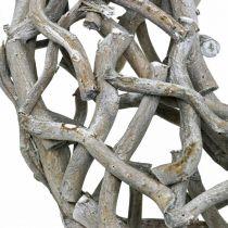 Ghirlanda decorativa in legno, grigio sbiancato, decorazione da tavola ghirlanda naturale Ø50cm