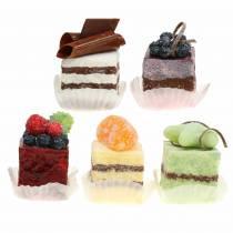 Pezzi di torta artificiali Assortiti 4×4cm 5 pezzi