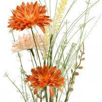 Fiori di prato artificiali Fiori artificiali arancioni alla decorazione estiva Pick