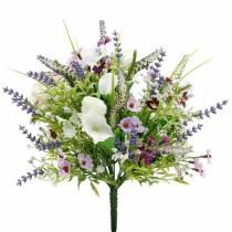 Bouquet artificiale, decorazioni da tavola, fiori di seta, bouquet primaverile colorato