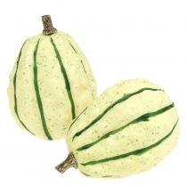 Crema di zucca decorativa, verde 11 cm 6 pezzi