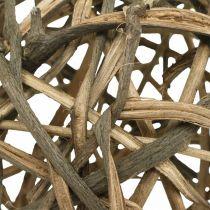 Palla decorativa legno di vigna naturale Ø15cm