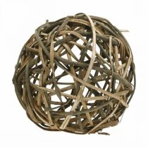 Palla decorativa legno di vigna naturale Ø25cm