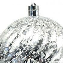 Sfera in plastica argento con illuminazione Ø20cm