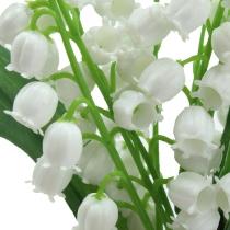 Mughetto artificiale bianco 25cm 3 pezzi