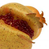 Melograno di frutta artificiale con semi Ø6cm - Ø7cm L18cm