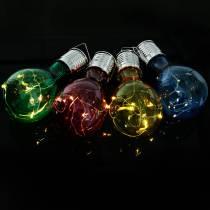 Lampadina solare LED decorativa da giardino assortita 15 cm 4 pezzi