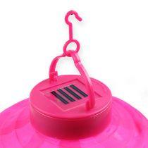 Lampion LED con solare 20 cm rosa