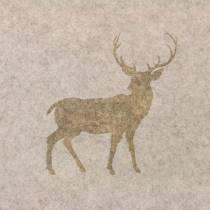 Runner da tavolo in feltro natura cervo 30 cm x 120 cm