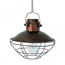 Lampada a sospensione a LED, lampada a sospensione rustica, energia solare Ø24,5cm H24cm