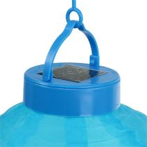 Lampion LED con solare 20cm blu