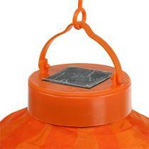 Lampion LED con solare 20cm arancione