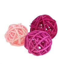 Assortimento Lataball 3cm Rosa / Rosa / Lilla 72 pezzi