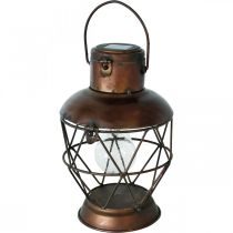 Lanterna solare, lampada a sospensione a LED aspetto industriale Ø16cm H32cm