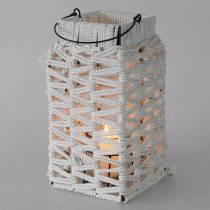 Lanterna sospesa, decorazione estiva, lanterna, macramè H35,5 cm L19 cm