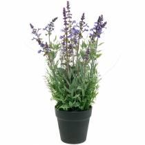 Decorazione floreale lavanda in vaso piante artificiali