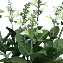 Vaso di lavanda artificiale, lavanda decorativa, fiore di seta in bianco