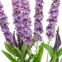 Farfalla lilla, lilla artificiale, fiore di seta, lilla estivo 6 pezzi